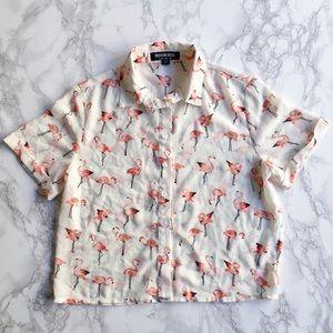 Tops - Flamingo crop top